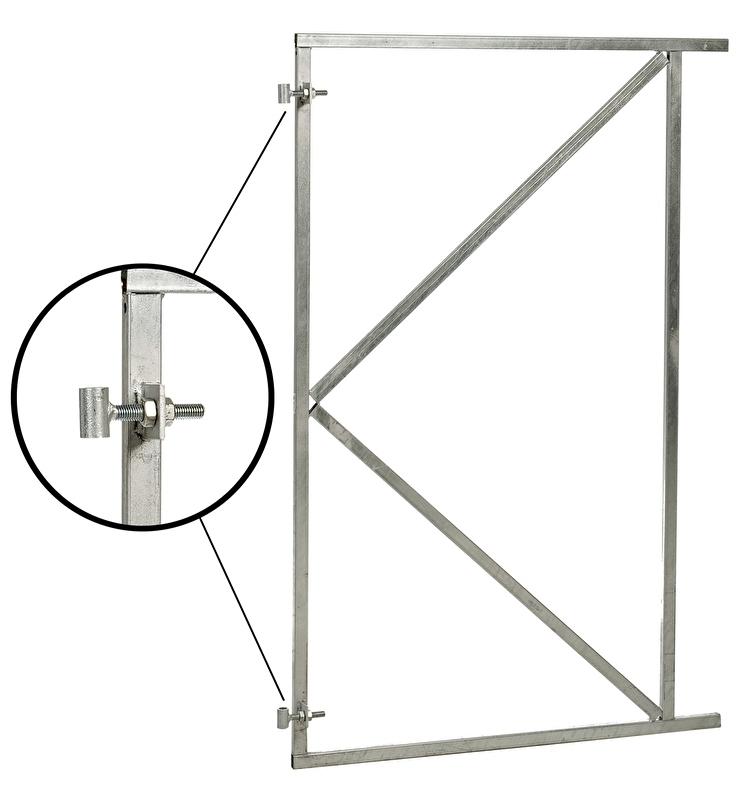 Poortframe verstelbaar (H) 155 x (B) 200