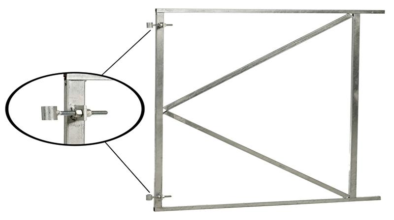 Poortframe verstelbaar (H) 100 x (B) 80