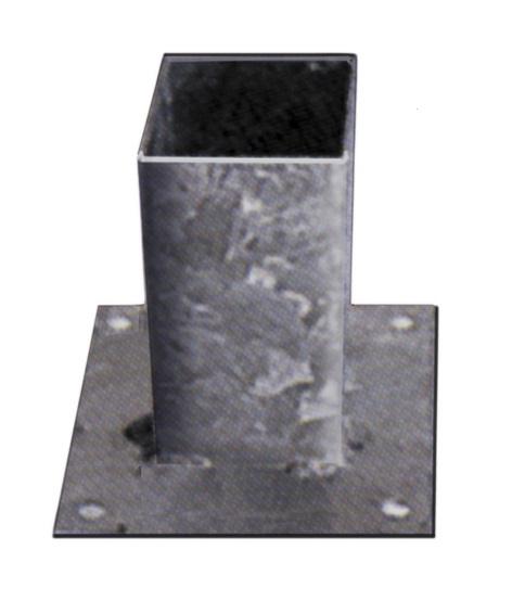 Vloerpaalhouder 9 x 9 cm verzinkt