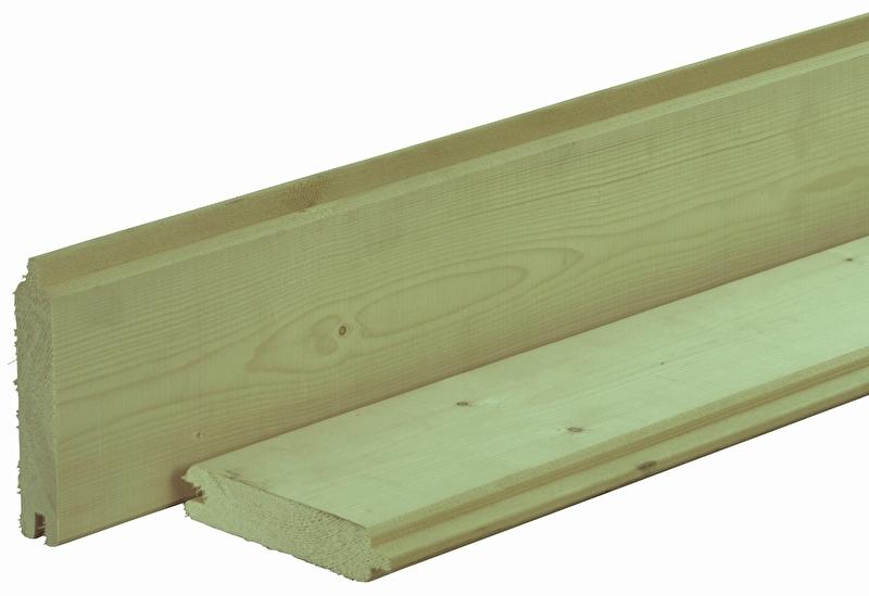 Vuren dakbeschot 1,6 x 10 x 300 cm Geïmpregneerd
