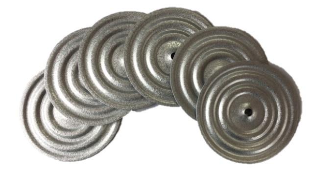 Bevestigingsschotels voor isolatie platen (incl. schroeven 3,5 x 30 mm) per 500st