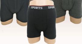 heren katoen sport boxershorts  Set van 8 stuks ( zwart ) art.nr: 531