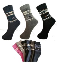 6 paar dames dikke THERMO sokken art,nr: 621