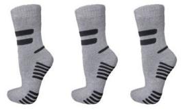 6 paar dikke ( grijs )  THERMO sokken art,nr: 626