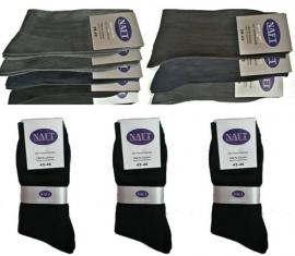 %100 katoen NAFT sokken (assortie kleuren) 10 paar art,nr:607