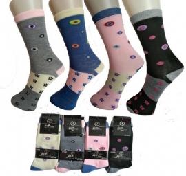 Set van 9 paar leuke dames sokken art,nr: 606