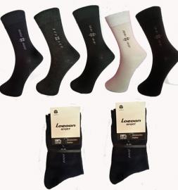 Set van 6 paar 100 % katoen sokken art nr: 474