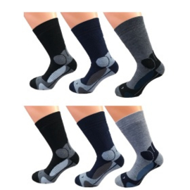 6 paar dikke katoen THERMO sokken  art,nr: 625