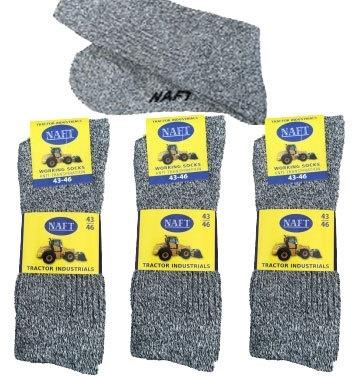 6 paar NAFT tractor grijs werksokken  art,nr:605