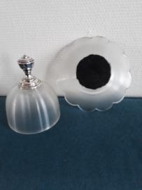 Boterstolpje friesglas met zilveren dop