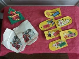 Set oude zakjes en labels