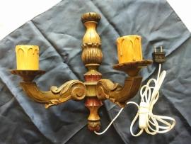 Houten wandlampje