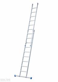 Solide 2-delige ladder 2 x 8 sporten met stabilisatiebalk,  vrijstaand, Gratis verzending