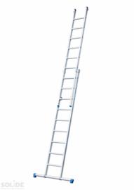 Solide 2-delige ladder 2 x 10 sporten met stabilisatiebalk,  vrijstaand, Gratis verzending