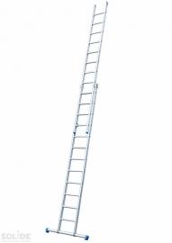 Solide 2-delige ladder 2 x 12 sporten met stabilisatiebalk,  vrijstaand, Gratis verzending