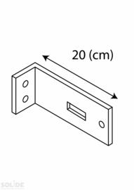 Wandbevestiging afstandhouder 20 cm per paar
