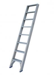 Solide enkele rechte trap 8 treden