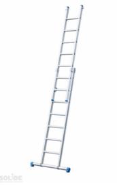 Gecoate 2-delige ladder met rechte voet met stabilisatiebalk