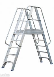 Solide platform met dubbele toegang 2x5 treden