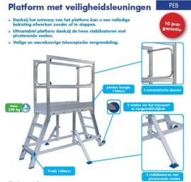 Solide Mobiel Werkplatform 3 treden