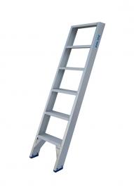 Solide enkele rechte trap 6 treden