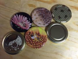 Glazen potten 350 gram zeskantig (Hexa) | 20 stuks inclusief deksels