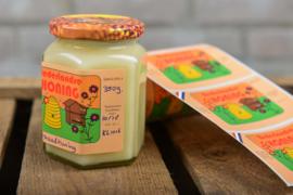 Honing etiketten Retro 100 stuks blanco