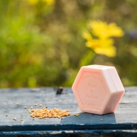 Honingzeep met pollen