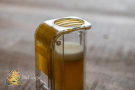 Merkbuisje  geel met één hand te gebruiken