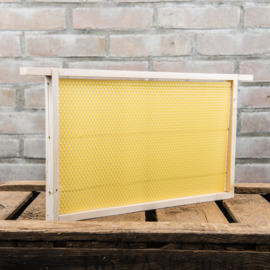 1 x Simplex broedkamerraam, zz, met ingesmolten kunstraat