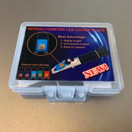 Afdekplaat met LED-verlichting voor refractometer