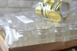 Glazen potten 250 gram zeskantig (Hexa) |  25 stuks inclusief deksels