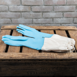 Latex handschoenen met katoenen mouw