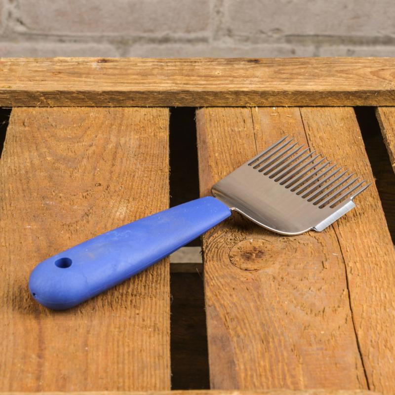 Ontzegelvork blauw met mesje