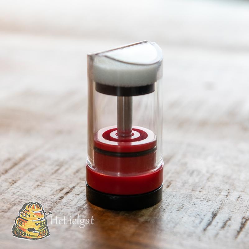 Tekenstempel met schroefdraad, rood