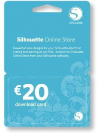 Silhouette download card 20 euro per mail