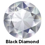Hot Fix Rhinestone Black Diamond ss30 zakje a 50 gram