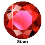 Hot Fix Rhinestone Siam ss6 zakje a 50 gram