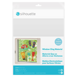 Silhouette Window Cling Material Clear
