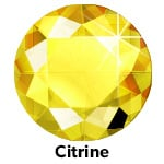 Hot Fix Rhinestone Citrine ss30 zakje a 50 gram