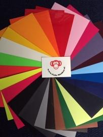 Flock Folie Pakket 24 kleuren (21 cm x 29 cm)