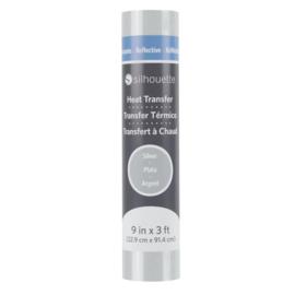 Silhouette Reflective Heat Transfer Silver  9 inch