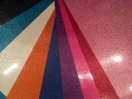 Pakket Vinyl Glitter A4 10 Kleuren