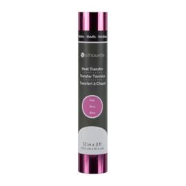 Silhouette Metallic Heat Transfer Pink 30,5 cm x 91,4 cm