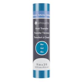 Silhouette Reflective Heat Transfer Blue 9 inch