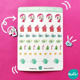 Stickersheet Chrissie Xmas Girl CX002