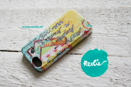 "iphone 5 tough case 3D.  limited edition ontwerp ""loving home"" door Revlie"