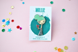 Millie enamel pin