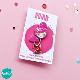 Pinkie enamel pin
