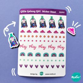 Stickersheet Gillie Galaxy Girl 002